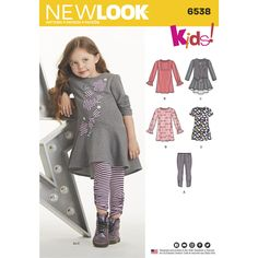 de145842d0425 Fun and adorable Child s dresses and leggings. Dress features sleeve  variations