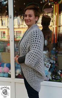 GOMBOLYDA: Horgolt granny square kardigán - Egy négyzet egy k...