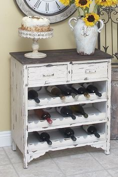 diy wine cabinet from an old dresser... super cute by Taylorsue