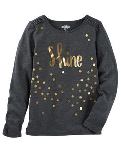 Kid Girl Sparkle Top from OshKosh B'gosh. Shop clothing & accessories from a trusted name in kids, toddlers, and baby clothes.