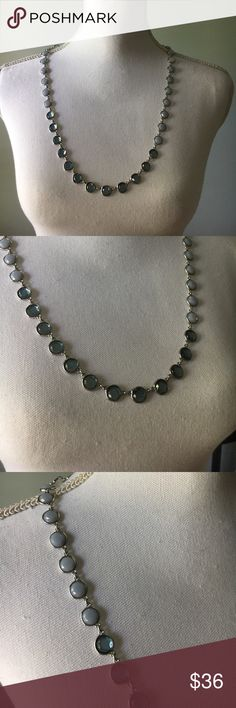 🆕LOFT Blue & Silver Statement Long Necklace This is new! Thanks so much for checking out this item today! We know that the shipping price is kinda ridiculous, so we suggest you bundle to get more for your money! Who doesn't love saving some cash? I do not trade. Please only leave kind comments. Reasonable offers welcome 😊 LOFT Jewelry Necklaces