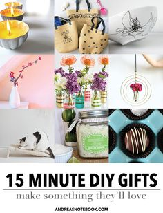 15 Minute DIY gifts to make