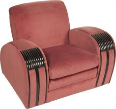 Art Deco Chair showing the streamline characteristics of that era.