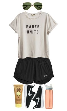 """""""Waipio Valley"""" by poshandy ❤ liked on Polyvore featuring Yves Saint Laurent, NIKE, Sun Bum and CamelBak"""