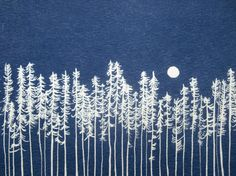 Cyanotype drawing by Christine Schmidt