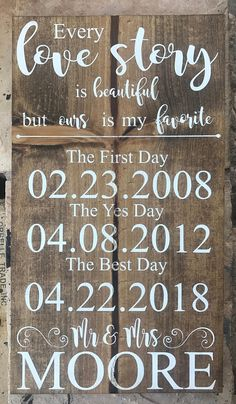 Personalized Every Love Story Sign//wedding gift//Anniversary Gift//Mr.//Dates Sign, Personalized Every Love Story Sign//wedding gift//Anniversary Gift//Mr.//Dates Sign. How To Dress For A Wedding, Plan Your Wedding, Wedding Tips, Fall Wedding, Wedding Events, Rustic Wedding, Wedding Ceremony, Wedding Planning, Dream Wedding