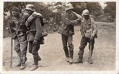 WWI, German soldiers with Romanian POWs, Doaga 1917 World War One, First World, Ww1 Soldiers, Lest We Forget, Kaiser, Cold War, Troops, Art History, Army