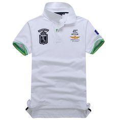Summer new 2016 Brand polo shirt Air Force One Embroidery Men Aeronautica Militare Men Shirts Diamond casual Shark Clothing