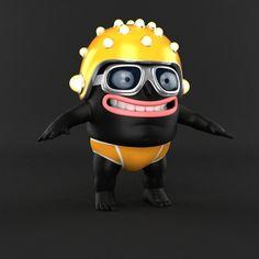 Character Design by nicolas lesaffre, via Behance