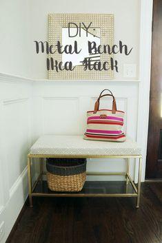 DIY Metal Bench Ikea Hack || Darling Darleen