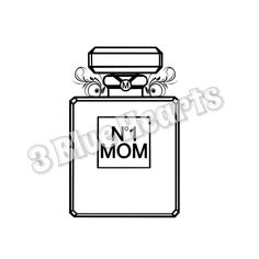 Number 1 MOM svg studio dxf pdf jpg N. 1 Mom by 3BlueHeartsDesign on Etsy