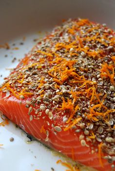 Spice-Crusted Salmon with Coriander, White Peppercorns and Orange ° eat in my kitchen