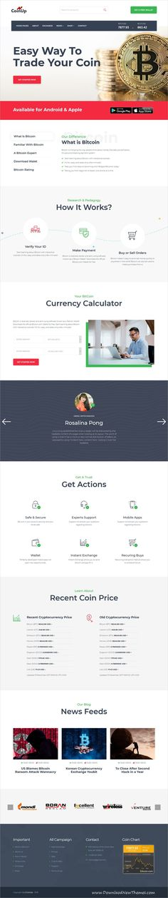 Coinup is clean and modern design responsive HTML5 #bootstrap template for #bitcoin and #cryptocruurency solution website to live preview & download click on image or Visit #webdevelopment