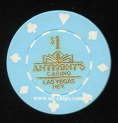 #LasVegasCasinoChip of the Day is a $1 Anthonys 1st issue you can get here http://www.all-chips.com/ChipDetail.php?ChipID=18281 #CasinoChip #Lasvegas