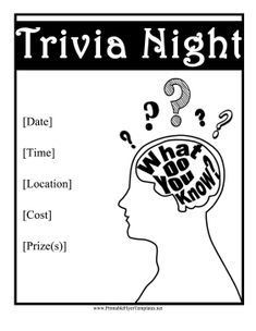 Bars, schools, or parties that have trivia night or pub quizzes can use this…