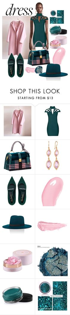 """#chokerdress"" by manueladimauro ❤ liked on Polyvore featuring Rare London, Miu Miu, Carelle, Christian Dior, Janessa Leone, By Terry, Lancôme, Urban Decay, Inglot and chokerdress"