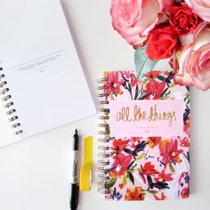 Because life requires All the Things // Introducing the BRAND NEW Floral Notebook from ABD