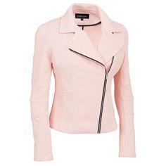 Plus Size Black Rivet Stretch Pique Moto Jacket Was: $200.00                     Now: $89.99