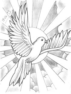 Tattoo Sketch A Day: April 2013 – Tattoo Sketches & Tattoo Drawings Cloud Tattoo Design, Tattoo Design Drawings, Outline Drawings, Art Drawings Sketches, Tattoo Sketches, Dove Sketches, Tattoo Designs, Tattoo Ideas, Art Chicano