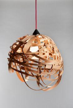 Nest Veneer Wood Light Fixture