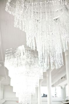 tinsel chandelier What a cool idea!