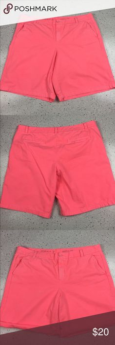 "Gap Boyfriend Roll-Up Shorts, Pink, size 18 Khakis by Gap Boyfriend Roll-Up Shorts, size 18. Neon pink - Orange color. Can be worn straight or rolled. Excellent Used Condition. Waist measures 21"" flat, inseam 9.5"" unrolled. GAP Shorts"