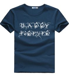 this t-shirt is 100%cotton navy blue men summer tee  good123321.myshopify.com