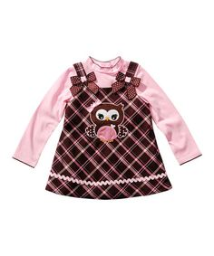 Brown & Pink Jumper & Tee - Infant #zulily #zulilyfinds
