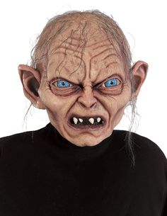 Gollum Mask- Lord Of The Rings - Full over the head mask with attached hair.  This is an officially licensed The Lord of The Rings - The Two Towers mask.