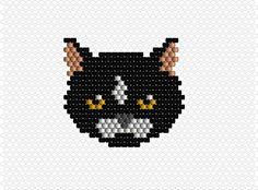 Brick Stitch chat modèle tuto patern logiciel EasyBeadPatterns