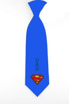 Embroidered personalize super dad necktie, superman mens tie, father days necktie, mens skinny tie, fathers day gifts - pinned by pin4etsy.com