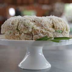 Try this Pandan Lamington Cake recipe by Chef Fiona. This recipe is from the show The Great Australian Bake Off.