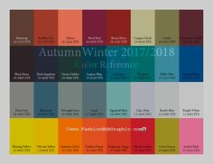 AutumnWinter 2017/2018 trend forecasting is A TREND/COLOR Guide that offer seasonal inspiration & key color direction forWomen/Men's Fashon, Sport & Intimate Apparel