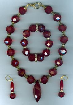 #Statement jewellery #N357  necklace set  rhinestone, crystal beads
