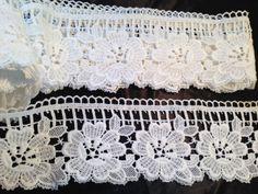 Vintage Gardinen - 2m/9cmVintage Plauener Gardine,Ansatzspitze - ein Designerstück von mypatchworld bei DaWanda Lace Shorts, Designer, Embroidery, Etsy, Women, Fashion, Dots, Needlepoint, Vintage Lace