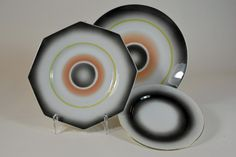 Plates by Nora Gulbrandsen for Porsgrund Porselen. Production year 1930