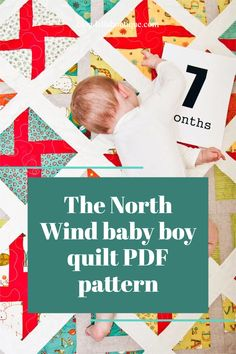 The North Wind baby boy quilt PDF pattern by Lella Boutique. Make it with 2 charm packs or 7 fat quarters. Download the PDF pattern here. Baby Boy Quilts, Wind Power, Quilting Projects, Quilt Patterns, Boys, Baby Boys, Quilt Pattern, Quilting Patterns, Senior Boys