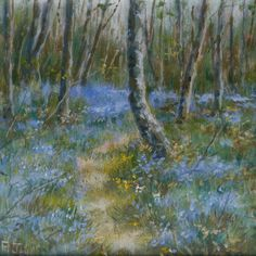 Track through the bluebells by Peter Jay  #peterjayartist #francisilesgallery  Copyright remains with the artist.