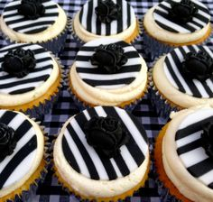 Handmade by Stace Black White Rooms, Cupcake Cakes, Cupcakes, Hand Painted Cakes, Cheesecake, Lady, Desserts, Handmade, House