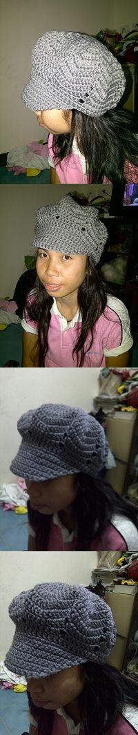 gray hat crochet