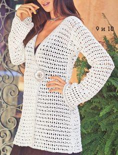 Pattern only a crochet spring/summer/fall long cardigan by AsDidy