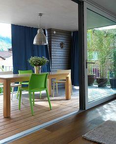 Kültéri kerti terasz pergola erkély függöny ötletek Outdoor Furniture Sets, Outdoor Decor, Modern, Pergola, Diy Crafts, Windows, Doors, Inspiration, Home Decor