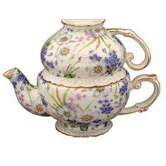 Gracie China Porcelain 3-Piece Tea Set for One