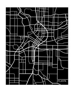Atlanta City Map Art Print