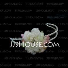 Headpieces - $4.49 - Beautiful Imitation Pearl With Silk Flower Women's Headbands (042025258) http://jjshouse.com/Beautiful-Imitation-Pearl-With-Silk-Flower-Women-S-Headbands-042025258-g25258
