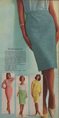 Skirtmaker Knits from a 1964 catalog. #1960s #fashion #vintage #dresses #skirts