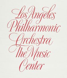 Doyald Young, detail of engraved lettering for the Los Angeles Philharmonic in The Art of the Letter , Smart Papers, Hamilton OH, 2003, 10 in Lettering