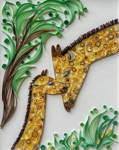 and baby sketch Mom and Baby Giraffe Quilling Arte Quilling, Paper Quilling Cards, Quilling Work, Paper Quilling Patterns, Quilled Paper Art, Quilling Paper Craft, Paper Crafts, Quilling Ideas, Flower Cards