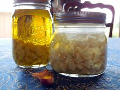 garlic tincture and garlic oil fresh garlic crop infusion - lower BP and cholesterol Healing Herbs, Medicinal Herbs, Natural Healing, Natural Home Remedies, Herbal Remedies, Health Remedies, Herbal Tinctures, Herbalism, Natural Medicine
