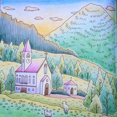 from Romantic Country coloring book, book one